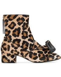 N°21 - Leopard Print Pony Hair Ankle Boots - Lyst