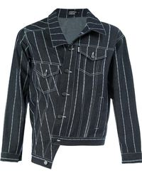 Andrea Crews - Striped Denim Jacket - Lyst