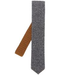Lardini - Knitted Two Tone Tie - Lyst