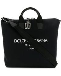Dolce & Gabbana Сумка-тоут С Логотипом - Черный