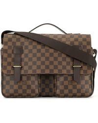 Louis Vuitton 2005 Pre-owned Damier Ebène Two-way Business Bag - Brown