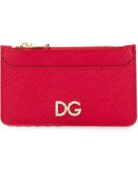 Dolce & Gabbana Portefeuille à logo - Rouge
