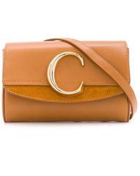 Chloé C Logo Belt Bag - Brown