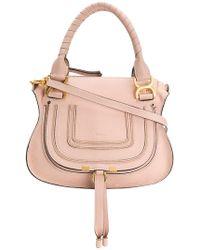 Lyst - Chloé Marcie Shoulder Bag in Gray 246cee3596