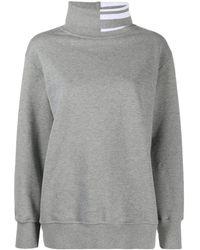 Thom Browne 4-bar Turtleneck Sweatshirt - Gray