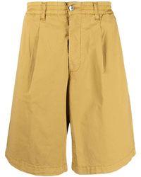 Paura Harrison Pleated Silk Shorts - Multicolour