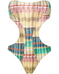 Lygia & Nanny Taylor bandeau swimsuit - Multicolore