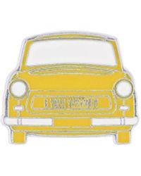 Yohji Yamamoto Taxi Brooch - Yellow