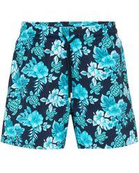 Vilebrequin Zwembroek Met Tropisch Print - Blauw