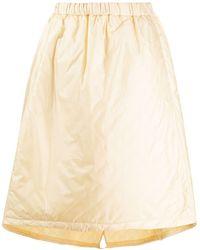 Jil Sander Elasticated Waist A-line Skirt - Natural