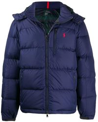 Polo Ralph Lauren Logo Embroidery Padded Jacket - Blue