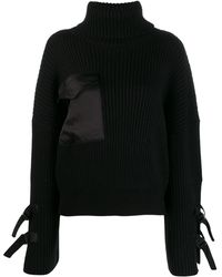 David Koma タートルネック セーター - ブラック
