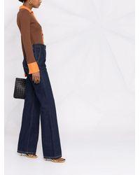 Ports 1961 Jeans mit weitem Bein - Blau