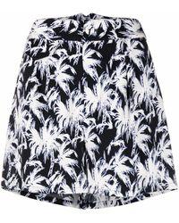Diane von Furstenberg Shorts con estampado de palmeras - Blanco