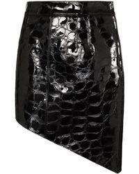 Alexander Wang クロコパターン ミニスカート - ブラック