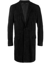 Dolce & Gabbana スエード シングルコート - ブラック