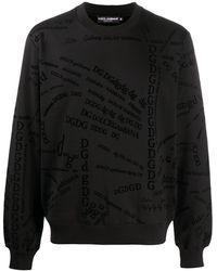 Dolce & Gabbana Sweatshirt mit Logo-Print - Schwarz