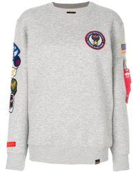 Alpha Industries - Multiple Patches Sweatshirt - Lyst