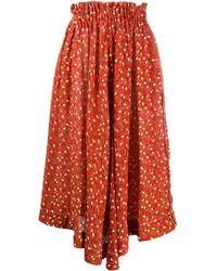 Marni Falda midi con cinturilla elástica - Rojo