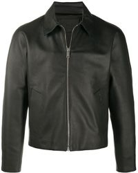 Givenchy Spread Collar Leather Jacket - Black
