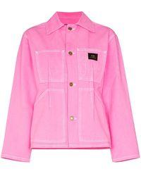 Marc Jacobs Veste en jean à détails de coutures - Rose
