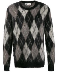 Pringle of Scotland Pullover mit Argyle-Muster - Schwarz
