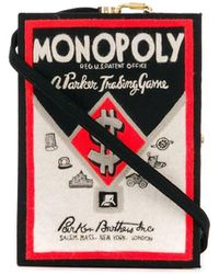 Olympia Le-Tan 'Monopoly' Box-Clutch - Schwarz