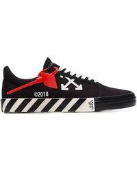 Off-White c/o Virgil Abloh Zwarte Low Top Vulcanised Sneakers