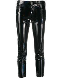 Junya Watanabe Vinyl Cropped Trousers - Black