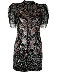 Temperley London Candy Sequin Short Dress - Black