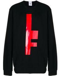 Lost and Found Rooms Sweatshirt mit Print - Schwarz