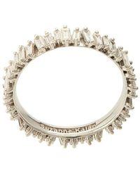 Suzanne Kalan 18kt white gold baguette diamond eternity band - Mettallic