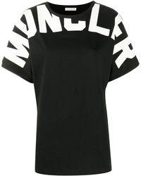 Moncler ロゴ Tシャツ - ブラック