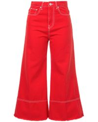 MSGM - Cropped Flare Jeans - Lyst