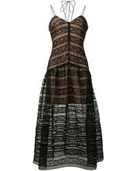 Self-Portrait Black Polyester Dress