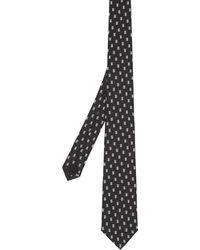 Burberry Cravatta jacquard con monogramma - Nero