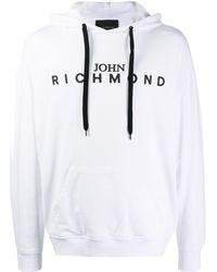 John Richmond ロゴ パーカー - ホワイト