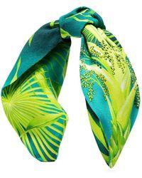 Versace - Green Jungle Print Headband - Lyst