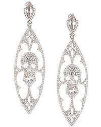 Loree Rodkin - Diamond Skull Drop Earrings - Lyst