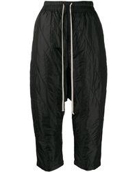 Rick Owens Drkshdw Pantalon sarouel crop - Noir