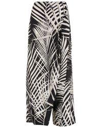 Osklen Pantalones Palm Leaf con diseño cruzado - Negro