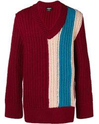 CALVIN KLEIN 205W39NYC Oversized chunky stripe sweater - Rouge