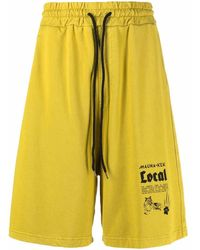 Mauna Kea Logo-printed Shorts - Yellow
