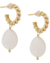 ISABEL LENNSE Xs Twisted Loops With Freshwater Pearls - Metallic