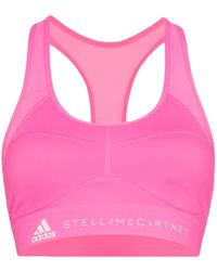 adidas By Stella McCartney Brassière de sport à logo - Rose