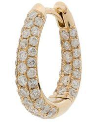 Jacquie Aiche Серьга-кольцо Inside Out Из Желтого Золота С Бриллиантами - Металлик
