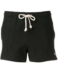 Champion Embroidered Logo Track Shorts - Zwart