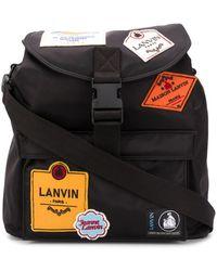 Lanvin Logo-patch Backpack - Black