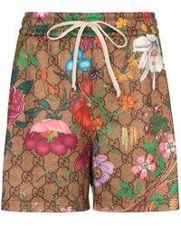 Gucci GG フローラ ショートパンツ - マルチカラー