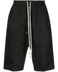 Rick Owens Drawstring Bermuda Shorts - Black